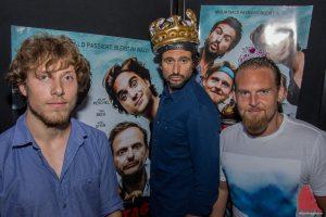 """(v.l.:) Jan-David Bürger, Tom Beck und Axel Stein bei der Premiere zu """"Männertag"""" im Cineplex. (Foto: th)"""