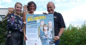 Sie stehen bereit für Wilsbergs Promi-Kellnern: Leonard und Maren (li.) Lansink sowie Gudrun Bruns von der Krebsberatung. (Foto: Pressefoto)