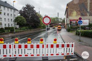 Der Bereich an der Hafenstraße bleibt bis Ende nächster Woche gesperrt. (Foto: Thomas Hölscher)