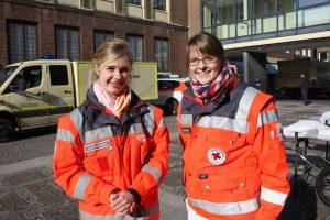 Ehrenamtliche des Deutschen Roten Kreuzes sind auch in diesem Jahr zu Karneval im Einsatz. (Foto: DRK)