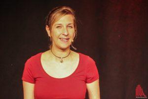 Selbstironisch und natürlich: Sarah Hakenberg im Kreativ-Haus. (Foto: bk)