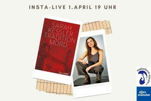 """In einer Live-Lesung bei ALLES MÜNSTER stellt die Autorin Sarah Kessler ihren Roman """"Tradition Mord"""" vor. (Fotos: hansanord Verlag / Jean-Pierre Christalle)"""