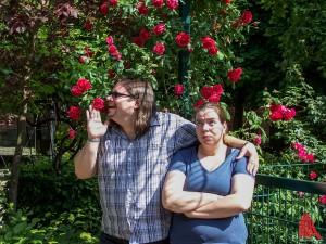 Zwei Scharfe in ihrer natürlichen Umgebung: Rebecca und Sven vom Impro-Theater. (Foto: ar)
