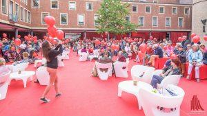 Der Rote Platz ist beim Schauraum der zentrale Dreh- und Angelpunkt. (Foto: wf / Weber)