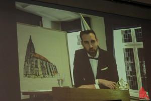 Christoph Metzelder bedankte sich für die Auszeichnung per Videobotschaft. (Foto:j je)