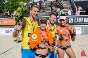 Die Siegerteams des diesjährigen Smart Beach Cups in Münster. (Foto: th)