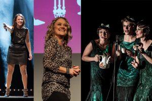 Ein Teil der Sisters of Comedy für Münster (v.l.): Carolin Kebekus, Lisa Feller und dieZucchini Sistaz. (Bildmontage: Thomas Shajek / Stephan Günther / Thomas Hölscher)