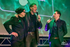 Stargast Ralf Moeller mit Titus und André Gatzke. (Foto: Thomas Hölscher)