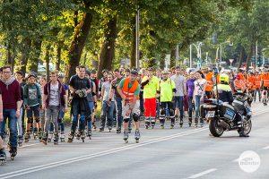 Die Skatenight Münster startet am Freitag wieder vor dem Schloss. (Archivbild: Carsten Bender)