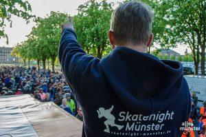 Die Skatenight startet wieder am Schlossplatz - wenn auch mit deutlich reduzierter Teilnehmerzahl als in den Vorjahren. (Archivbild: Thomas Hölscher)