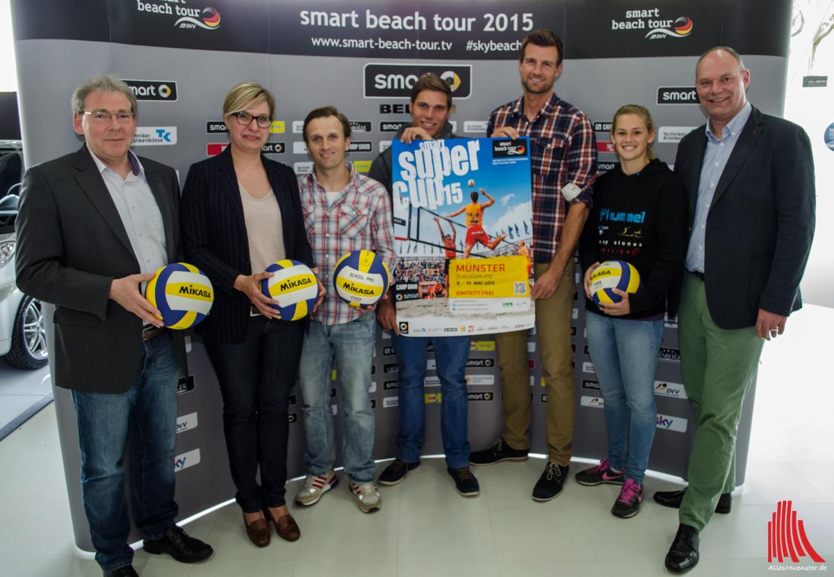 beachvolleyball smart beach tour startet mit dem super cup in m nster. Black Bedroom Furniture Sets. Home Design Ideas