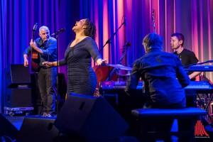 Einmal mehr sorgten die Macher von Sound Lake City für einen kurzweiligen Konzertabend und holten das Cécile Verny-Quartett in die Cloud. (Foto: th)