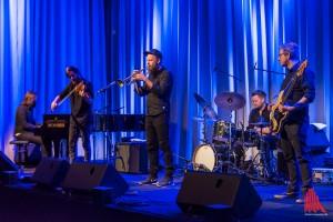 """Das """"Mathias Eick Ensemble"""": Andreas Ulvo, Haken Aase, Mathias Eick, Torstein Lofthus und Audun Erlien (v. l.) (Foto: th)"""