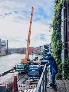 Die meisten der Skulptur Projekte, wie hier der Steg von Ayşe Erkmen im Hafen, sind bereits wieder abgebaut. (Foto: Hauschild)