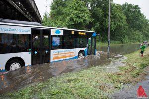 Viel Regen in kurzer Zeit: Auf diesen Starkregen war im Sommer 2014 in Münster niemand eingestellt. (Foto: Thomas Hölscher)