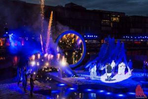 """Das Open-Air-Spektakel """"Der Sturm"""" war auch in dieser Spielzeit durch die Wiederaufnahme im September wieder am Gesamterfolg beteiligt. (Foto: Thomas Hölscher)"""