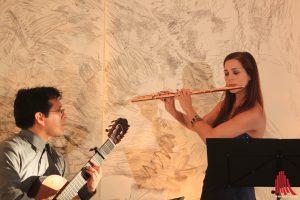 Carlos Navarro und Anita Farkas zaubern mit ihren Instrumenten. (Foto: bk)
