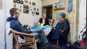 ALLES MÜNSTER im Gespräch mit Türmerin Martje Saljé. (Foto: wf / Weber)