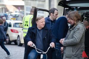 Die Dreharbeiten für den Münster-Tatort mit Axel Prahl (li.) gehen in die nächste Runde. (Archivbild: th)