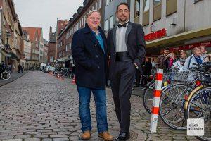 Die Hauptdarsteller des Münster-Tatort: Axel Prahl (li.) und Jan Josef Liefers. (Archivbild: Martin Lohoff)