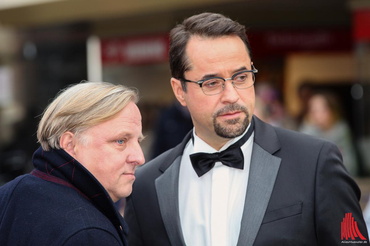 Axel Prahl (li.) und Jan Josef Liefers ermitteln wieder. (Archivbild: ml)