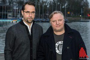 Tatort ist ein Teil der Stadt geworden - das hat Schaupieler Jan Josef Liefers (li.) schön zusammengefasst. Am Freitag starteten für ihn und seinen Kollegen Axel Prahl die Dreharbeiten in Münster. (Foto: ml)