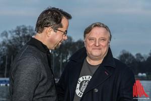 Gut Lachen haben Jan Josef Liefers (li.) und Axel Prahl: Die neue Folge des Münster-Tatorts bricht alle Einschalt-Rekorde. (Foto: ml)
