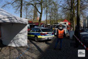 Für einige Szenen wurde der Wochenmarkt einen Tag vorverlegt. (Foto: Michael Bührke)