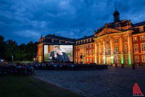 Der neue Münster-Tatort wird vor dem Schloss gezeigt. (Foto: wf / Weber / cabe)