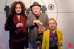 Sie sind in den neuen Münster-Tatort gestartet (v.l.): Mechthild Grossmann, Axel Prahl und Christine Urspruch. (Archivbild: th)