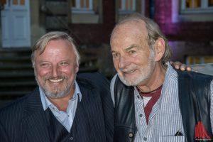 Allen Grund zur Freude haben die Schauspieler vom Münster-Tatort: Axel Prahl (li.) und Claus Dieter Clausnitzer. (Foto: th)