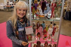 Auch Rekord-Sammlerin Bettina Dorfmann zeigt auf dem Internationalen PUPPENfrühling wieder ihre Barbies. (Foto: th)