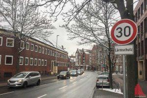 Auch der lange Straßenverlauf von Münzstraße über Bült bis Mauritzstraße wird eine Tempo 30-Zone. (Foto: Thomas Hölscher)