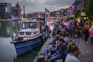 Die MS Anaconda macht für die Konzertreihe TREIBGUT wieder im Stadthafen fest. (Foto: Yannick Kroll)