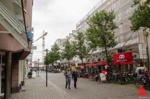 Dieser Anblick der Windthorststraße wird nach der Neugestaltung Geschichte sein. (Foto: th)