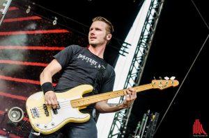 Donots-Bassist Jan-Dirk Poggemann. (Foto: th)