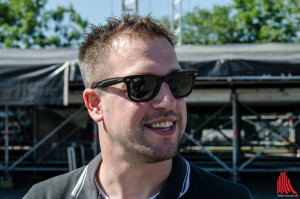 Veranstalter Timo Birth in Vorfreude auf das 10e Vainstream-Festival. (Foto: th)