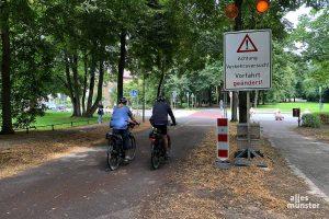 Der Verkehrsversuch an der Promenade / Neubrückentor wird in den Herbstferien beendet. (Foto: Michael Bührke)