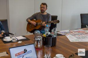 Auch Benjamin Kocavs hat sich für den Wettbewerb The Voice of Münsterland angemeldet. (Foto: Thomas Hölscher)
