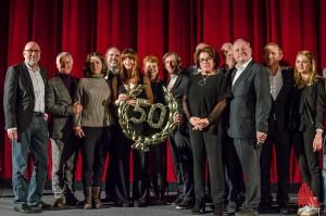Geballte Prominenz zum 50. Wilsberg auf der Bühne im Cineplex. (Foto: th)