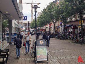 Hier startet in den Sommerferien die Testphase für die Neugestaltung der Windthorststraße. (Archivbild: th)