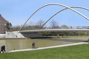 So soll die neue Brücke der Wolbecker Straße aussehen. (Grafik: WSA)