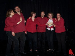 Das Ensemble des Improtheaters. (Foto: ar)