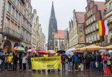 Das ist Münster: Menschenkette vom Rathaus bis zur Münzstraße