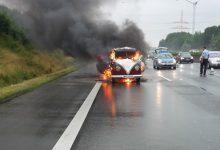 PKW Brand auf der A1