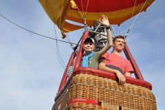 Herzenswunsch im Heißluftballon