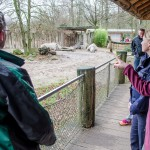 Am Nashorngehege sorgt eine Überwachungskamera für zusätzliche Sicherheit. (Foto: th)